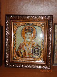 икона бисером  Святитель Николай Чудотворец