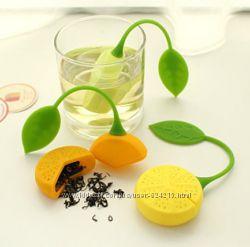 Оригинальные силиконовые заварнички в виде лимончика