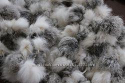шарфик из меха кролика