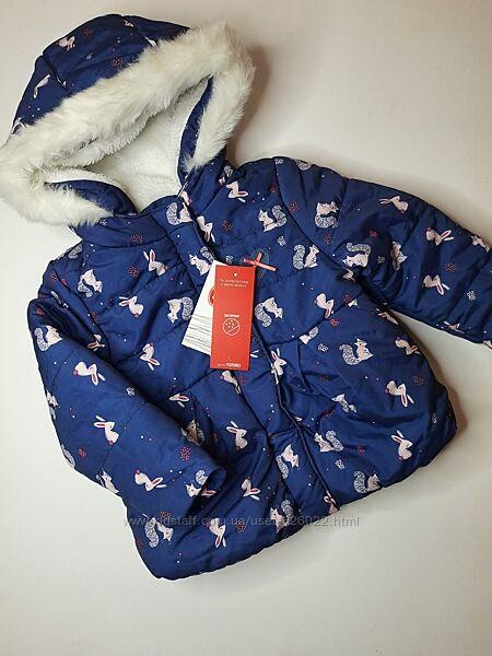 Куртка деми еврозима тёплая на девочку 92 cool club куртка демі єврозима