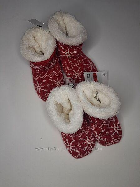 Тапочки носки новый год тёплые на девочку мальчика c&a тапці шкарпетки тепл