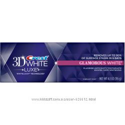 Хит  продаж Отбеливающая зубная паста  Crest  3  D  White Glamorous  Luxe