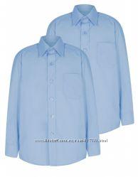 Школьные рубашки George размер  9-10, 10-11лет с коротким и длинным рукавом