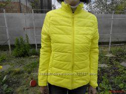 Деми осенняя женская куртка цвет желтый р-р 44 46