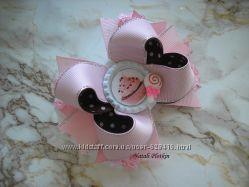 Сладкие украшения - шоколадные бантики, заколочки с конфетками, обручи