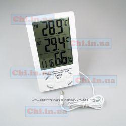 Метеостанция ТА298 Термометр гигрометр часы большой дисплей