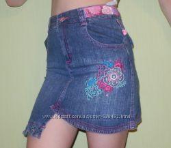 Комплект одежды для девочки с джинсовой юбкой