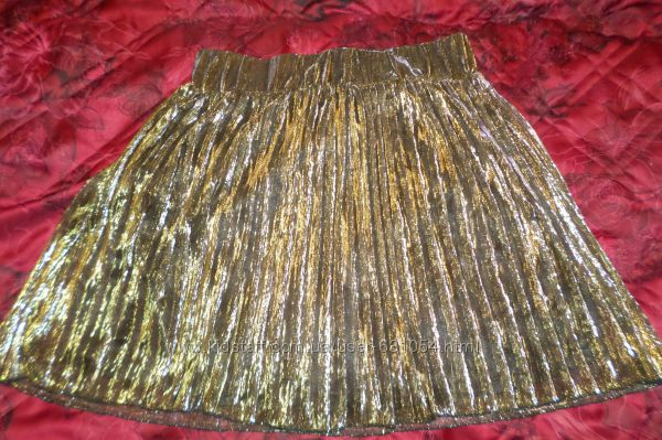 Шикарная юбка клеш плиссеровка трпеция золото серебро