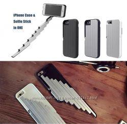 Чехол на iPhone со встроеной селфи-палкой Stickbox