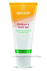 Зубной гель, паста для детей Weleda в наличии