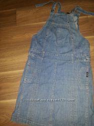 Классный  джинсовый сарафан сост нового