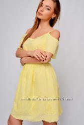 Лёгенькое натуральное платье из прошвы по мега распродаже