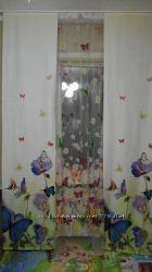 шторы японские  панельные  бабочки