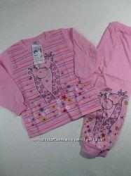 Пижама трикотажная с начёсом для девочек, размеры 8692-134140,