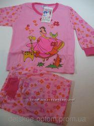 Пижама для девочек трикотажная,  98104, 110116, 122128, 134140 Венгрия