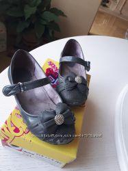 Серые туфли для школы, 31 размер, 19, 5 см, супинатор, каблук