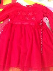 Платье Next на годик нарядное красное праздничное Некст