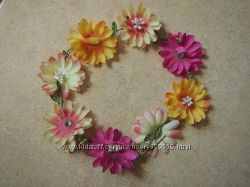 Ободок венок с цветами river island 54-56 стразы жемчужинки