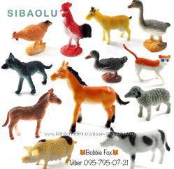 Набор 12 фигурок Домашние животные