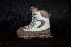 кожаные ботинки ecco gore-tex, р. 37-38