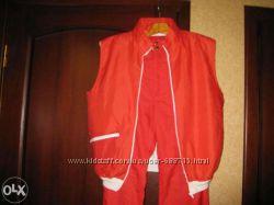Продам яркий лыжный костюм брюки с жилетом красного цвета