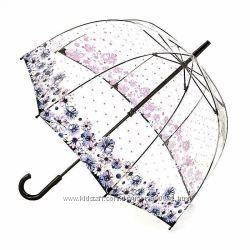 Женский прозрачный зонт-трость Fulton Birdcage-2 L042 - Flower Love Любовн