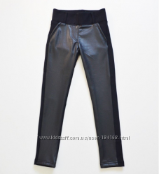 Лосины , брюки кожаные зимние р. 122-170 Тм A-Yugi Jeans в наличии