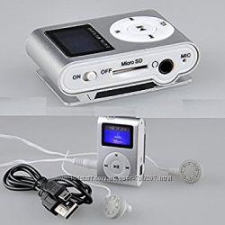 Компактный MP3 плеер с LCD дисплеем  наушники