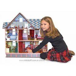 Кукольный домик США из дерева, ручной работы