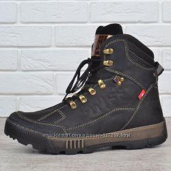 be77e0ac Ботинки мужские зимние кожаные Swiss Andermatt черные натуральный мех берцы