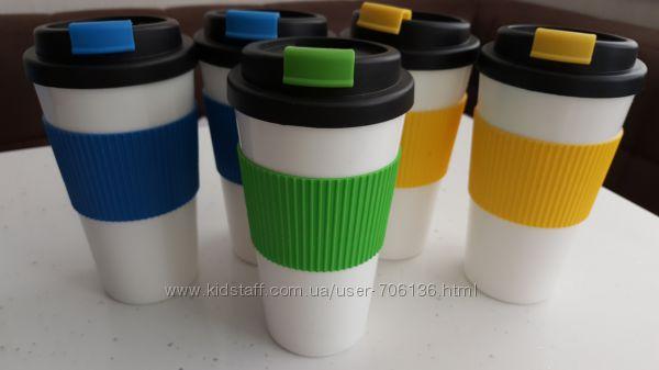 Стакан, чашка для кофе с крышкой, двойные стенки