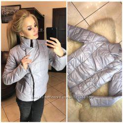 Женская короткая зимняя куртка с воротником-стойкой, разные цвета, размеры