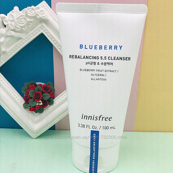 пенка для умывания с экстрактом черники от Innisfree Blueberry Rebalancing