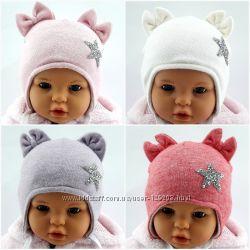 Ангоровые шапки детские теплые