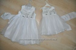 Белое праздничное платье