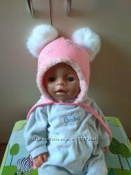 Зимняя шапочка для малышки
