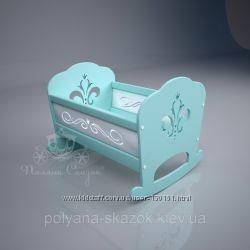 Кукольная кроватка Lily. МДФ, ольха