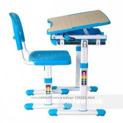 Комплект парта и стул FunDesk Piccolino Blue - Скидка