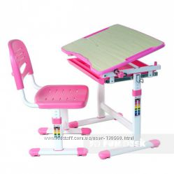 Парта и стул растишка FunDesk Piccolino Pink купить Киев Украина. Скидка