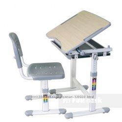 Комплект FunDesk Piccolino Grey парта и стул для ребенка от 3-х лет