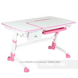 Парта FunDesk Amare розовая с выдвижным ящиком
