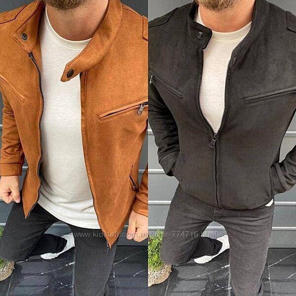 Мужская стильная куртка бомбер базовый турция
