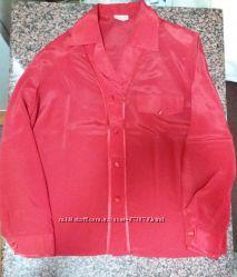 Красивая стильная красная блуза рубашка