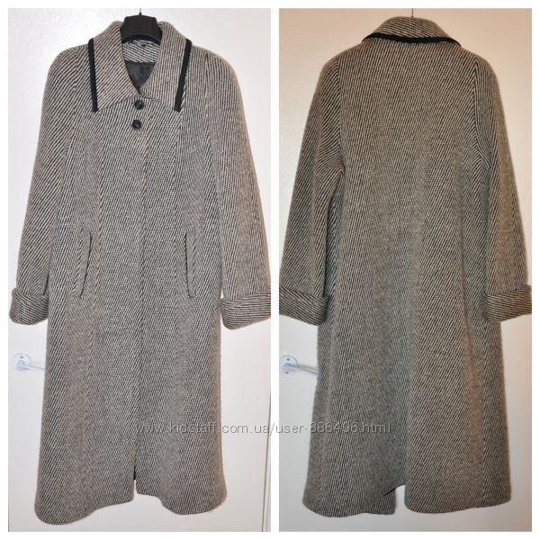 Женское зимнее пальто Season классическое длинное шерстяное размер 52