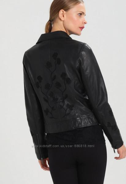 Новая. Кожа. Куртка-косуха с вышивкой One More Story EU36 и EU38