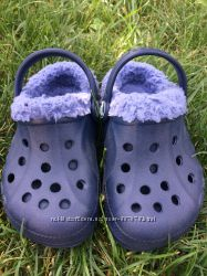 Crocs мех деми С6-7 . Оригинал. теплые кроксы