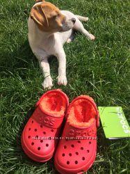 Crocs hilo C10-11 утепленные кроксы . Оригинал. меховушки