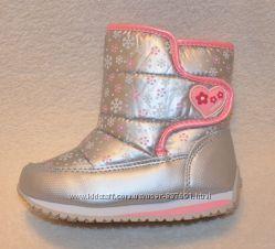 Два цвета Зимние дутики ботинки для девочки Том м 23-28 р-ры