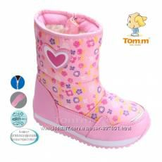 Три цвета Зимние дутики сапоги ботинки для девочки Том м 28-33 р-ры