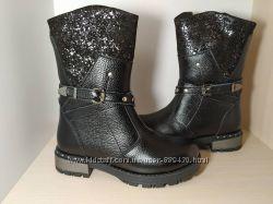 Зимние кожаные сапоги ботинки для девочки Tobi арт. 069-03 р. 33-37 шкіряні